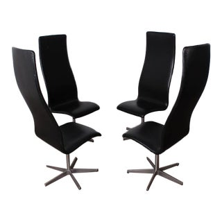 Four Oxford Chairs by Arne Jacobsen