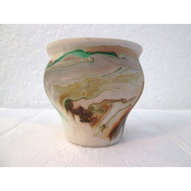 Nemadji Swirl Pottery Vessels - Pair - Image 9 of 11