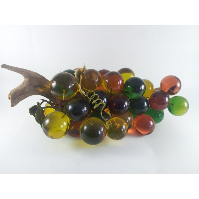 Image of Mid-Century Lucite Grape Cluster