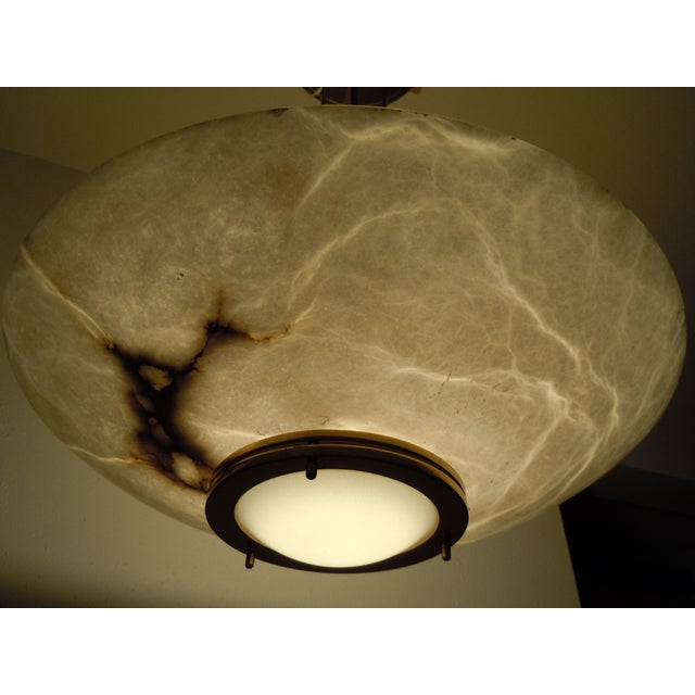Image of Lightolier Alabaster Pendant Light