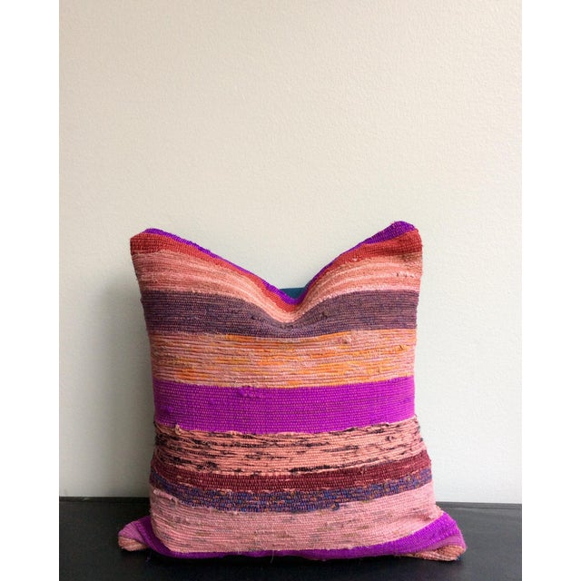 Purple & Pink Rug Pillows - A Pair - Image 2 of 3