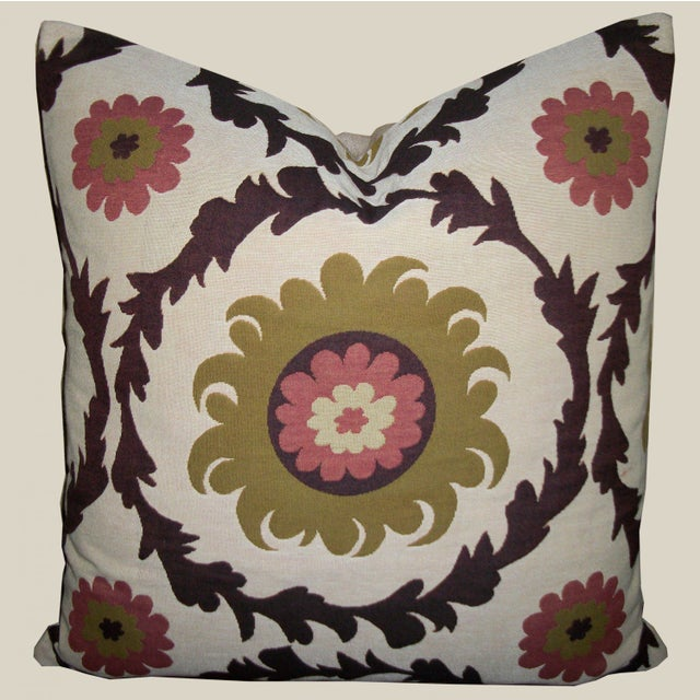 Image of Quadrille Woven Designer Pillows - A Pair