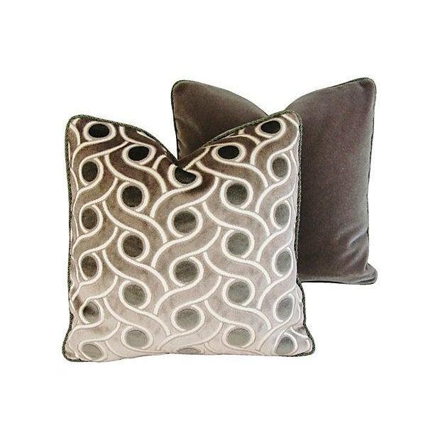 Osborne & Little Cut Velvet Pillows- A Pair - Image 5 of 7