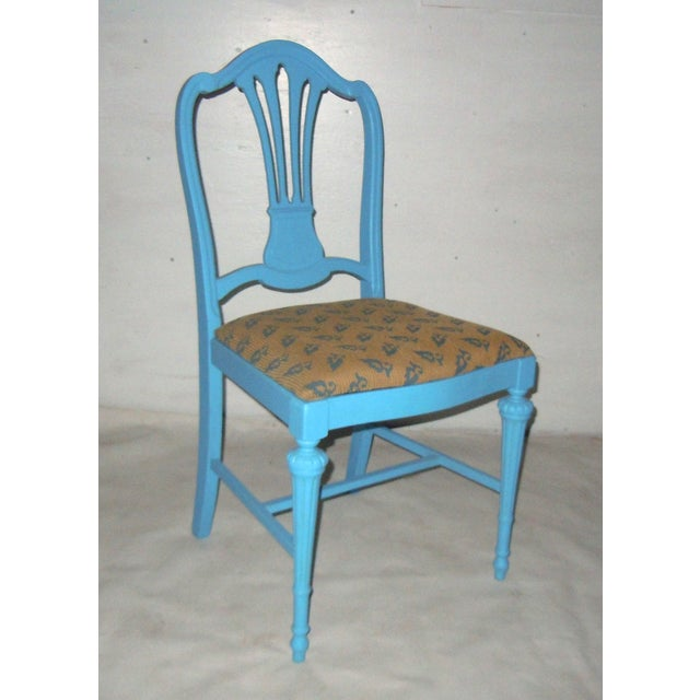Blue Mid-Century Accent Chair - Image 2 of 8