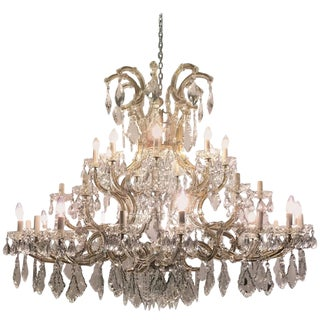 Antique Venetian 41 Light Chandelier