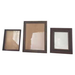 Vintage Rustic Wood Frames - Set of 3
