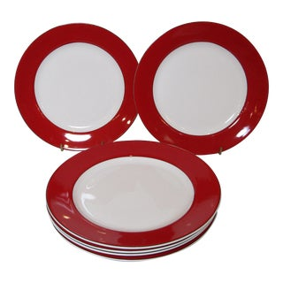 Kate Spade Lenox, Holiday Red Dinner Plates - Set of Six
