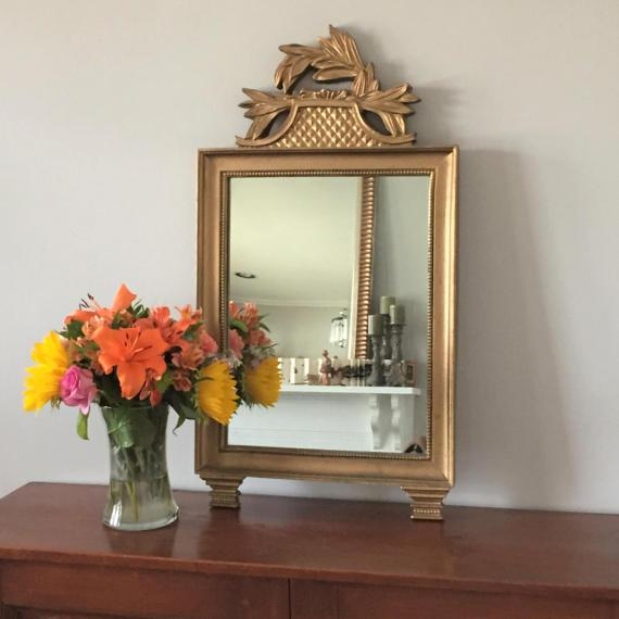 Vintage Gold Wall Mirror - Image 6 of 7