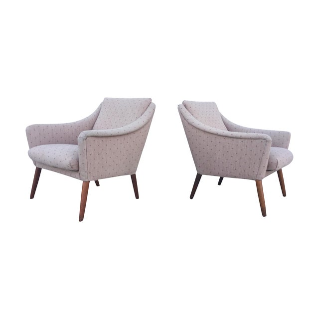 Vintage Danish Modern Lounge Chairs - A Pair - Image 1 of 11