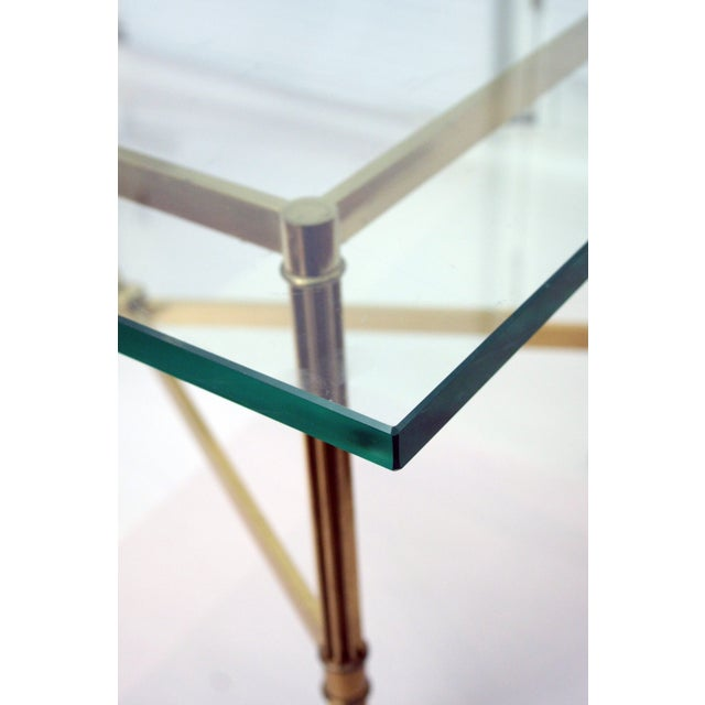 Image of La Barge Style Brass Cocktail Table