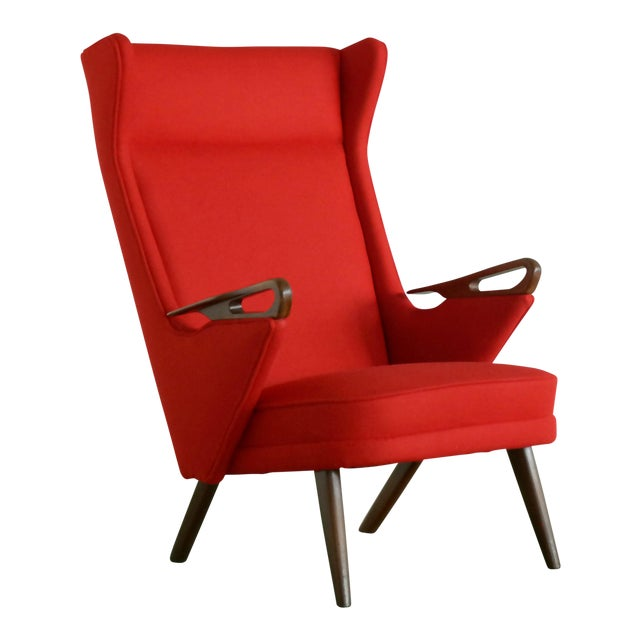 Svend Skipper Attributed 1950s Papa Bear Style Lounge Chair - Image 1 of 8