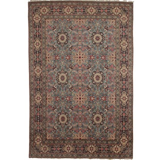 Silk & Wool Hand Knotted Persian Qum Rug- 8′6″ × 13′1″