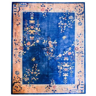 Chinese Art Deco Rug - 9′3″ × 10′7″