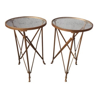 Lion Foot Gold Side Tables - A Pair