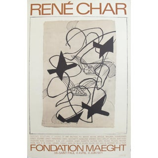 1971 French Exhibition Poster, Rene Char at Fondation Maeght