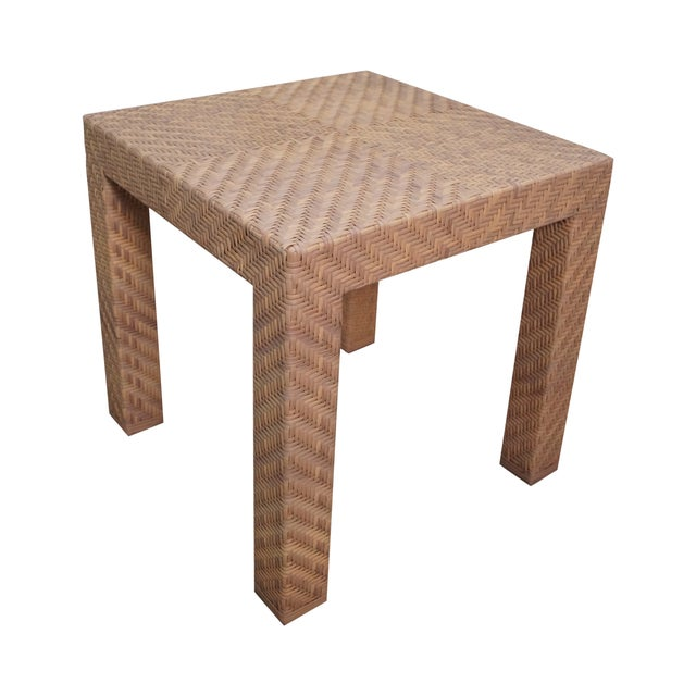Image of Oscar de la Renta for Century Wicker Side Table