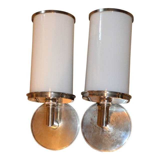 Visual Comfort Studio Cylinder Sconces - a Pair - Image 1 of 10