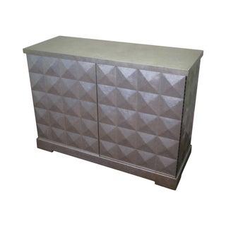 Baker Barbara Barry Silver 2 Door Diamond Cabinet
