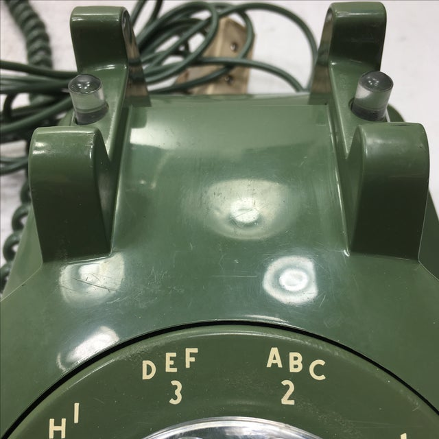 Moss Green Rotary Dial Telephone - Image 8 of 9