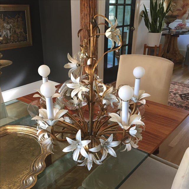Italian Tole Chandelier - Image 2 of 4