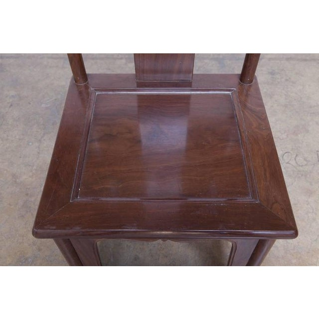 Chinese Yoke Back Officials Hat Chairs - Set of 6 - Image 8 of 10