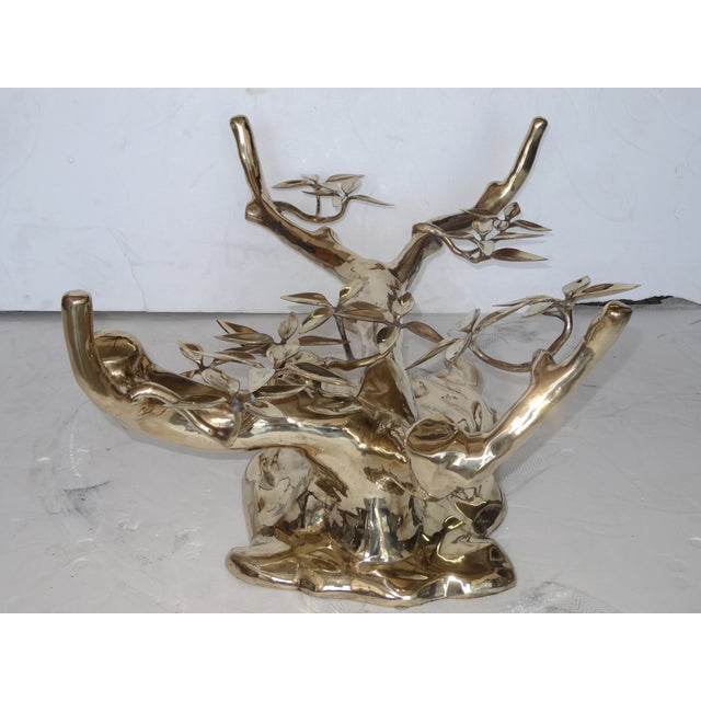 Willy Daro Style Brass Coffee Table Base - Image 8 of 8