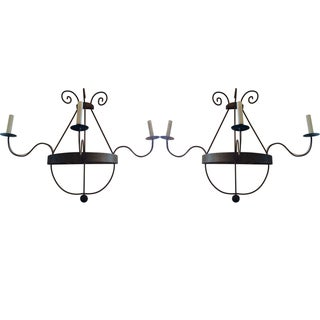 Pierre Deux Iron Sconces - Pair