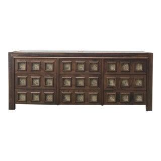 Mid-Century Cork & Wood Dresser