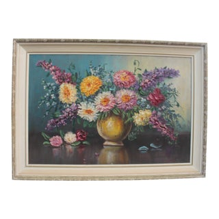 Marrioll Still Life With Flowers Textural Painting