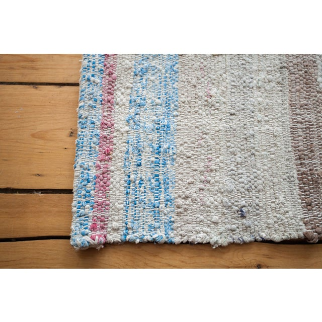 "Vintage Cotton Area Rag Rug - 7'10"" x 8'7"" - Image 5 of 9"