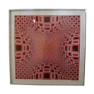 Original Vasarely Op Art Serigraph