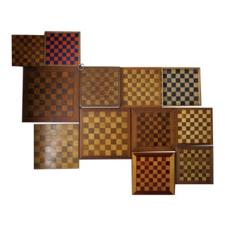Vintage Chessboards - Set of 12