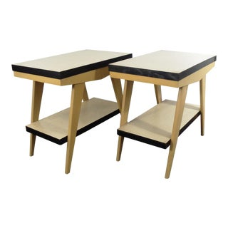 Vintage Mid-Century Two-Tiered Side Tables - A Pair