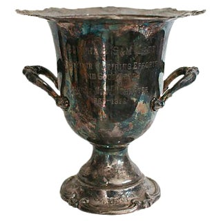 Silver Plate Trophy Champagne Cooler
