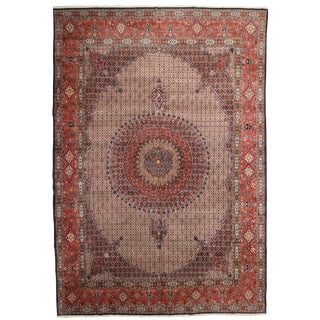RugsinDallas Vintage Hand Knotted Wool Persian Mood Rug - 11′1″ × 16′1″