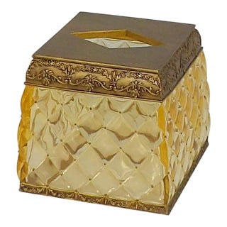 Hollywood Regency Lucite Tissue Box Cover