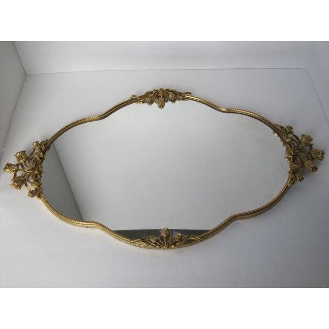 Mid-Century Tulip Mirrored Vanity Tray - Image 2 of 8