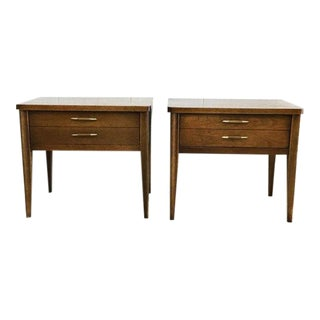 Broyhill Mid-Century Walnut End Tables - a Pair