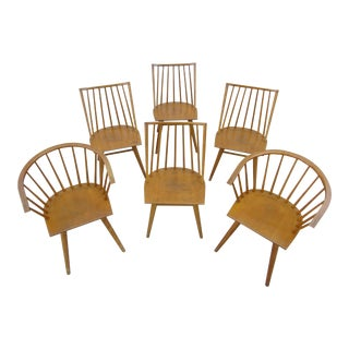 Leslie Diamond for Conant Ball Dining Chairs -A Set of Six