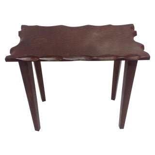 Mid Century Craftsman Style Dark Wood Side Table