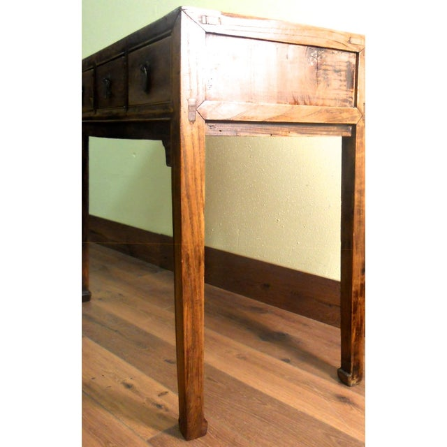 Early 1800s Antique Chinese Ming Desk - Image 7 of 9