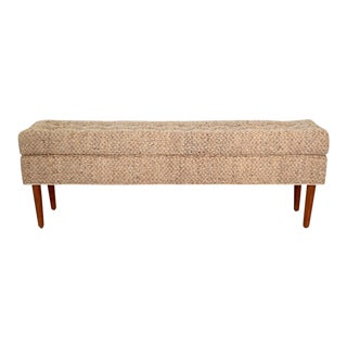 Raw Silk & Linen Bench