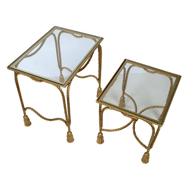 Decorative Gilt Metal Nesting Tables - a Pair - Image 6 of 9