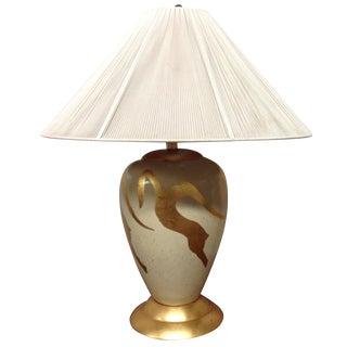 Huge Hollywood Regency Lamp With Gold Leaf Kudus