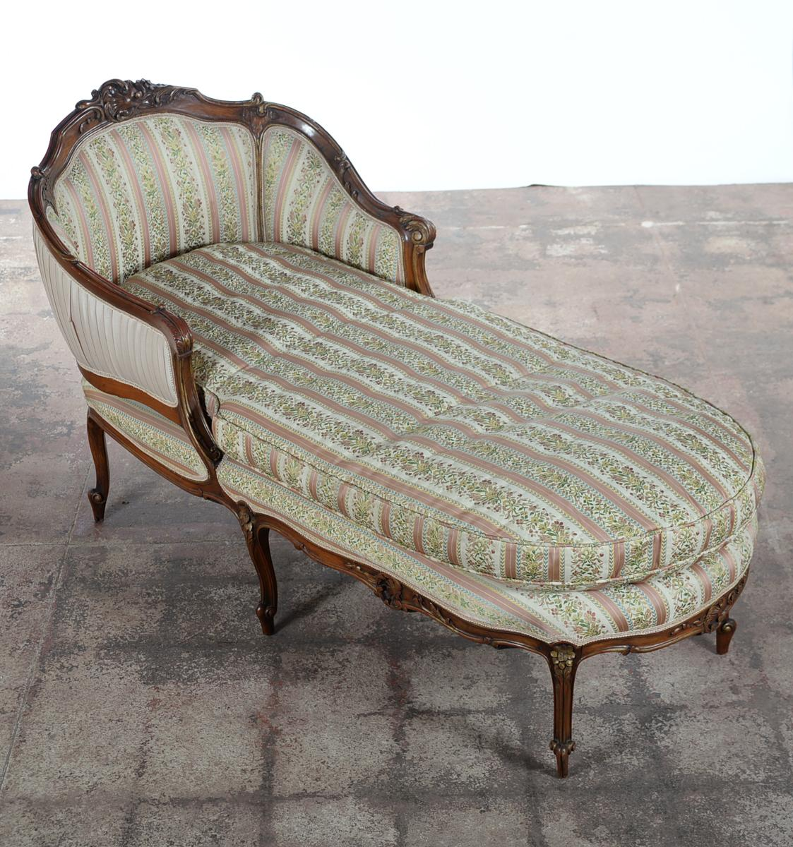 19th C. Louis XV Mahogany French Chaise Lounge - Image 2 of 10  sc 1 st  Chairish : french chaise - Sectionals, Sofas & Couches