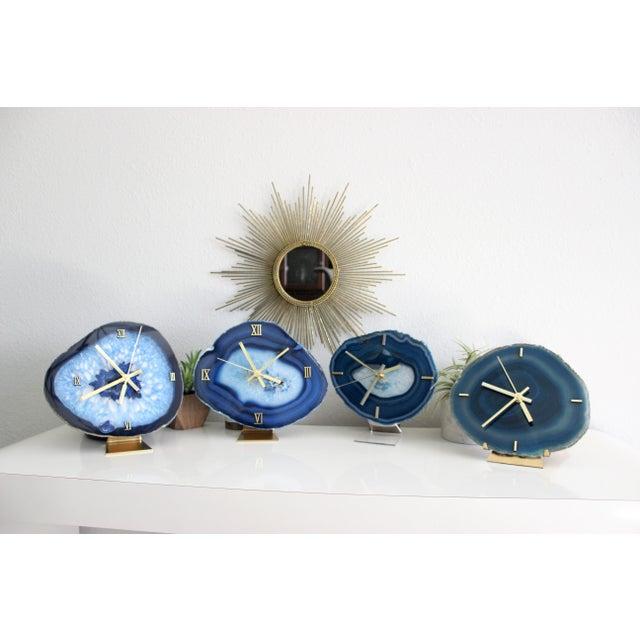 Modern Blue Agate Slice Boho Clock - Image 7 of 7