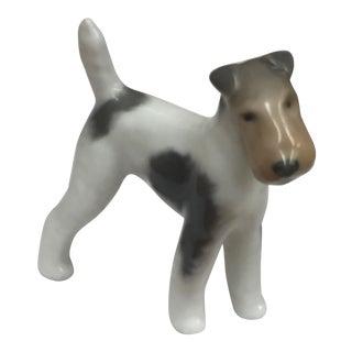 Vintage Royal Copenhagen Porcelain Puppy Figurine Terrier #3170