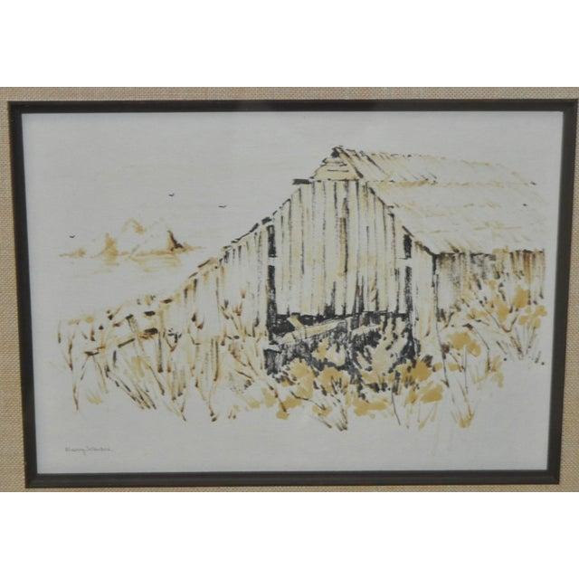 Vintage Monterey Barn Pen & Ink by Nancy Johnson - Image 3 of 5
