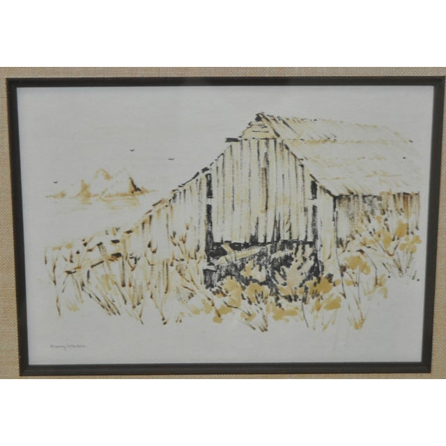 Image of Vintage Monterey Barn Pen & Ink by Nancy Johnson