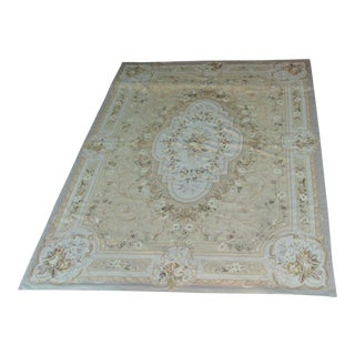 "Vintage French Aubusson Needlepoint Rug - 7' 8"" X 9'11"""